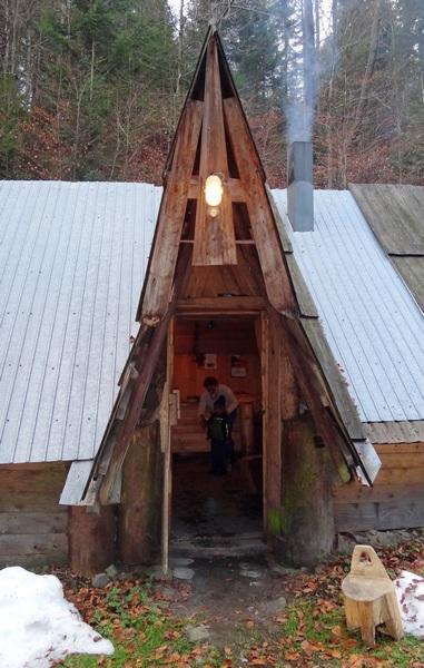 Wejście do naszej góralskiej chaty